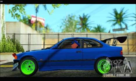 BMW e36 Drift Edition Final Version para GTA San Andreas traseira esquerda vista
