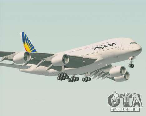 Airbus A380-800 Philippine Airlines para GTA San Andreas vista traseira