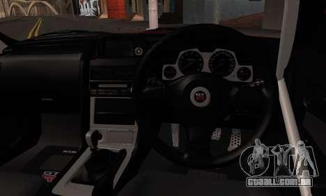 Nissan Skyline R34 HELL DT para GTA San Andreas traseira esquerda vista
