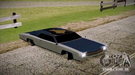 Buccaneer 2.0 para GTA San Andreas traseira esquerda vista