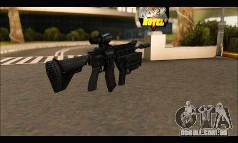 HK416 M320 Devgru para GTA San Andreas segunda tela