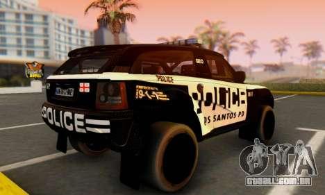 Bowler EXR S 2012 v1.0 Police para GTA San Andreas esquerda vista