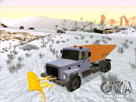 GAZ 3309 Neve para GTA San Andreas vista traseira