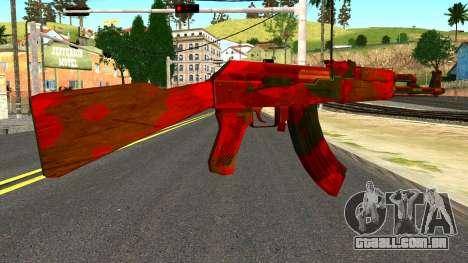 AK47 with Blood para GTA San Andreas segunda tela