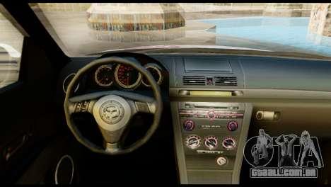 Mazda Speed 3 [Sakura Trick Itasha] para GTA San Andreas traseira esquerda vista
