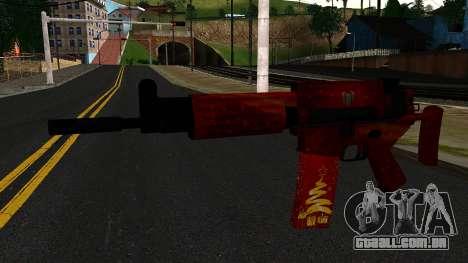 De Véspera de Ano novo Rifle de Assalto 2 para GTA San Andreas