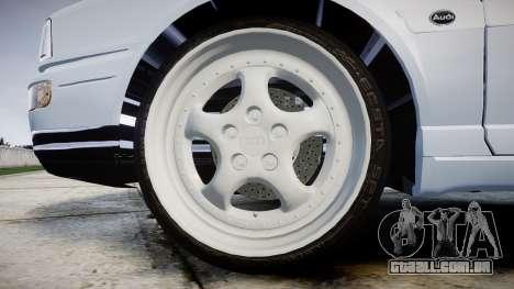 Audi 80 Cabrio us tail lights para GTA 4 vista de volta