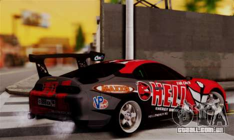 Toyota Supra HELL DT para GTA San Andreas esquerda vista