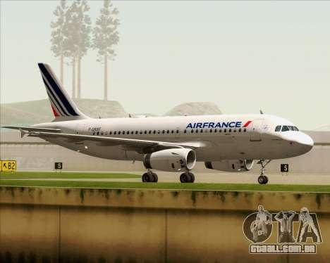 Airbus A319-100 Air France para vista lateral GTA San Andreas