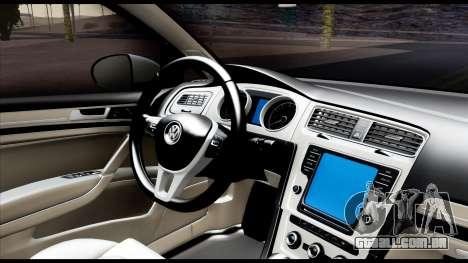Volkswagen Golf 7 para GTA San Andreas vista traseira