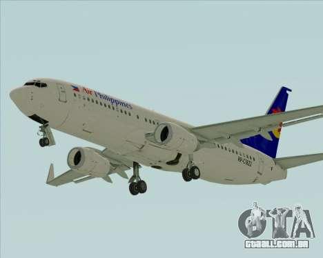 Boeing 737-800 Air Philippines para GTA San Andreas esquerda vista