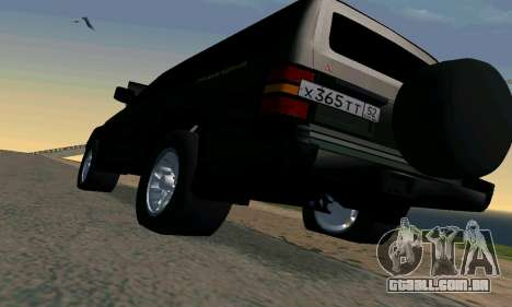 Mitsubishi Pajero Intercooler Turbo 2800 para GTA San Andreas vista superior