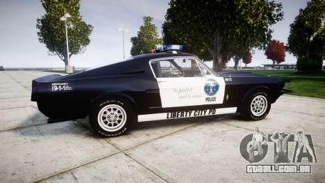 Ford Shelby GT500 Eleanor Police [ELS] para GTA 4 esquerda vista