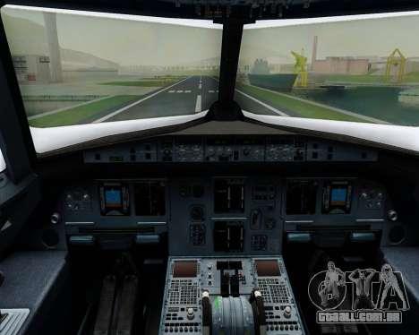 Airbus A320-200 Iberia Express para GTA San Andreas interior