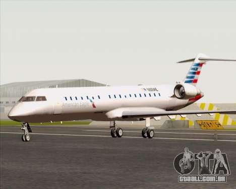 Bombardier CRJ700 American Eagle Airlines para GTA San Andreas traseira esquerda vista