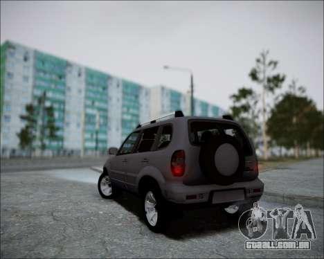 Chevrolet Niva para GTA San Andreas vista traseira