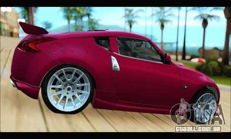 Nissan 370Z 2010 Stanced para GTA San Andreas esquerda vista