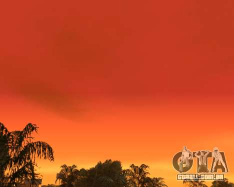 Realista céu (Sky Mod) para GTA San Andreas terceira tela