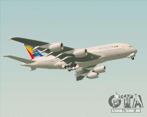 Airbus A380-800 Philippine Airlines para vista lateral GTA San Andreas