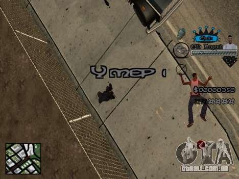 C-HUD Old Legend para GTA San Andreas por diante tela