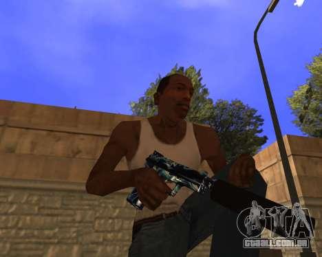 Blue Chrome Weapon Pack para GTA San Andreas terceira tela
