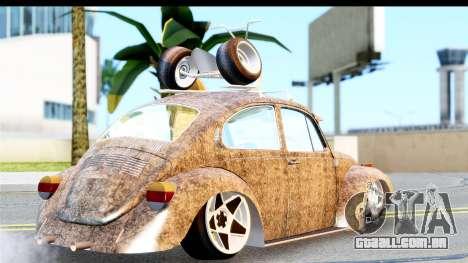 Volkswagen Beetle Vosvos 1973 para GTA San Andreas esquerda vista