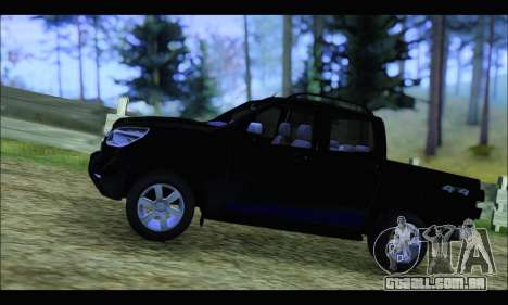 Chevrolet S10 LTZ 2014 para GTA San Andreas esquerda vista
