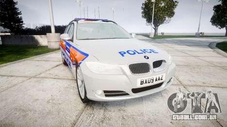 BMW 325d E91 2009 Metropolitan Police [ELS] para GTA 4