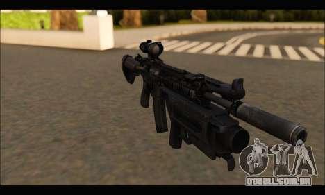HK416 M320 Devgru para GTA San Andreas terceira tela