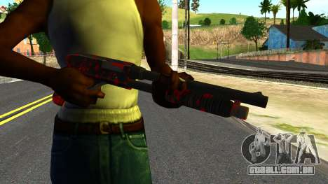 Shotgun with Blood para GTA San Andreas terceira tela