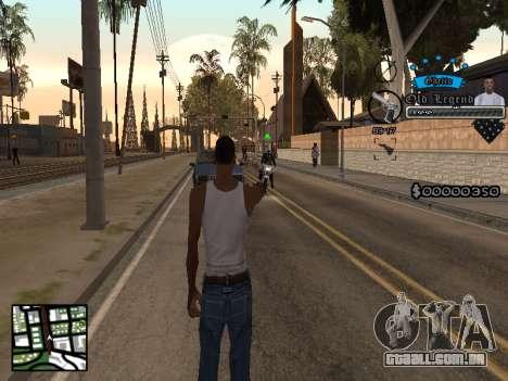 C-HUD Old Legend para GTA San Andreas segunda tela