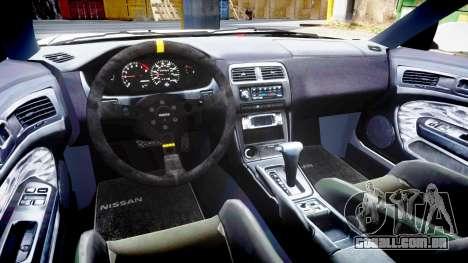 Nissan Silvia S14 Kouki Hellaflush para GTA 4 vista interior