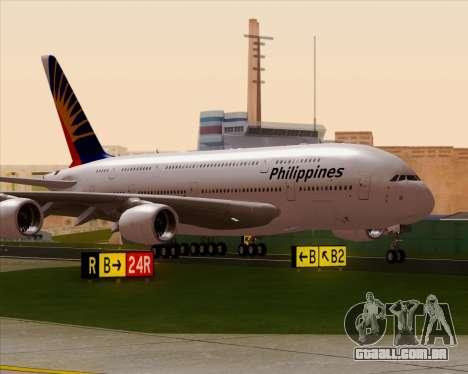 Airbus A380-800 Philippine Airlines para GTA San Andreas vista direita