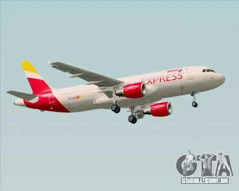 Airbus A320-200 Iberia Express para GTA San Andreas vista traseira