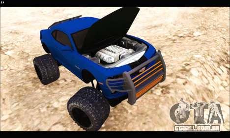Chevrolet Camaro SUV Concept para GTA San Andreas vista traseira