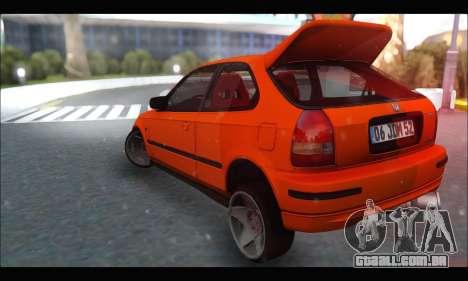 Honda Civic HB (JDM Family) para GTA San Andreas traseira esquerda vista