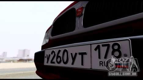 GAZ 3110 Volga para vista lateral GTA San Andreas
