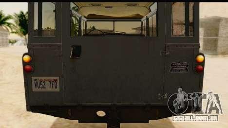 Land Rover Series IIa LWB Wagon 1962-1971 [IVF] para GTA San Andreas vista traseira