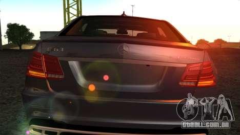 Mercedes-Benz E63 AMG 2014 para GTA San Andreas vista interior