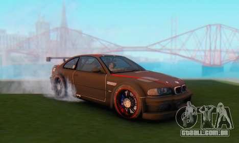 BMW M3 GTR para GTA San Andreas traseira esquerda vista