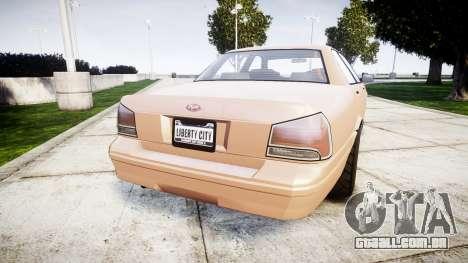 GTA V Vapid Stanier para GTA 4 traseira esquerda vista