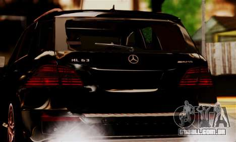 Mercedes-Benz ML63 AMG para GTA San Andreas vista traseira