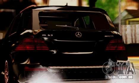 Mercedes-Benz ML63 AMG para GTA San Andreas vista traseira