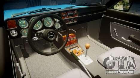 Nissan Skyline 2000GT para GTA 4 vista de volta