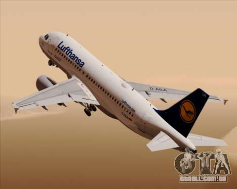 Airbus A319-100 Lufthansa para GTA San Andreas