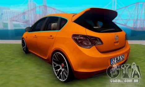 Opel Astra J Team para GTA San Andreas esquerda vista