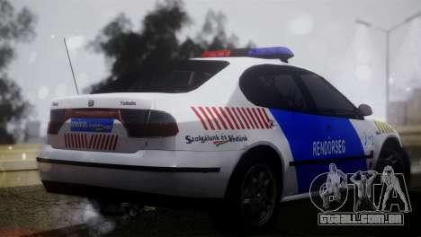 Seat Toledo 1999 Police para GTA San Andreas esquerda vista