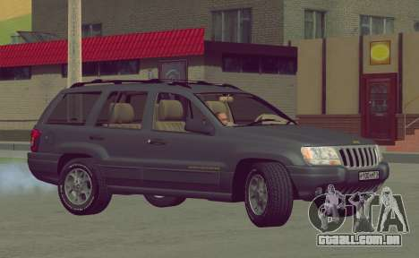 Jeep Grand Cherokee WJ para GTA San Andreas vista interior