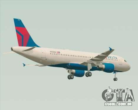 Airbus  A320-200 Delta Airlines para GTA San Andreas vista traseira