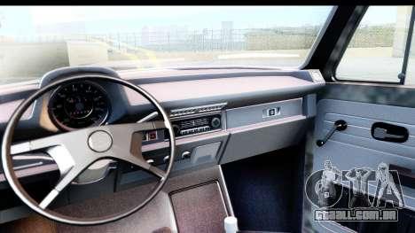 Volkswagen Beetle Vosvos 1973 para GTA San Andreas vista direita